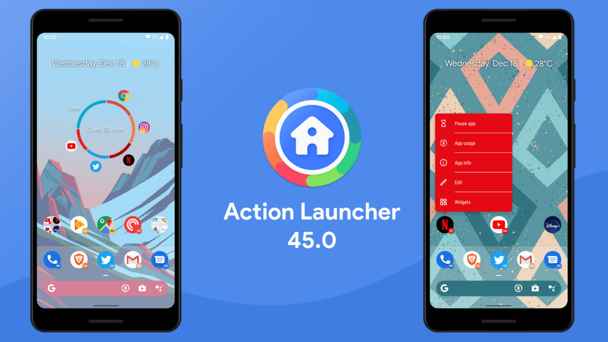 Action Launcher Support Action Gesture di Android 10